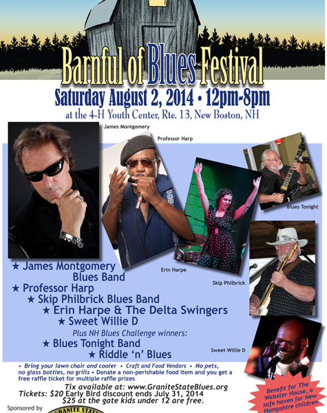 Barnful of Blues 2014 poster
