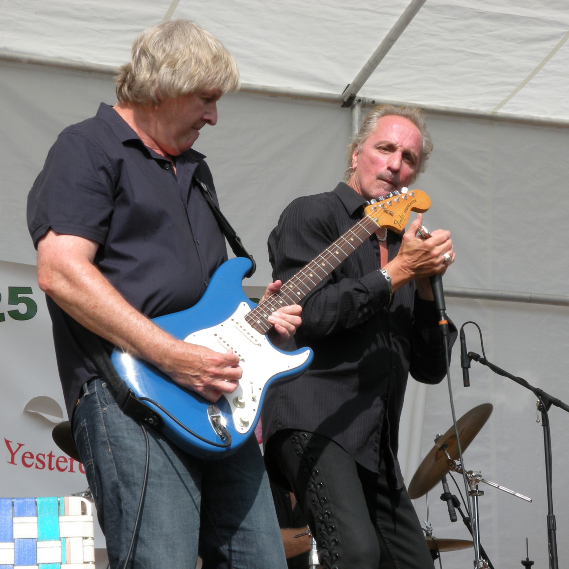 George McCann and James Montgomery performing at the Barnful of Blues Festival 2014