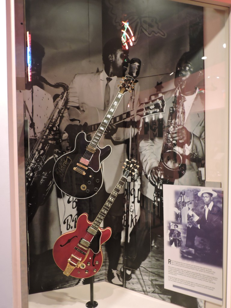 This is a display at the Rock 'n' Roll Museum in Memphis, TN- photo by Diana Shonk