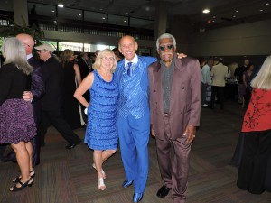 Jean and Paul Benjamin with Eddie Shaw looking smart at the Awards.