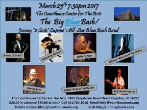 """Jimmy """"2 Suits"""" Capone's Big Blues Bash @ Courthouse Center for the Arts 